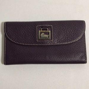 Dooney & Bourke wallet plum color